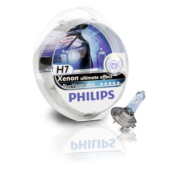2 ampoules philips blue vision ultra h7 feu vert. Black Bedroom Furniture Sets. Home Design Ideas
