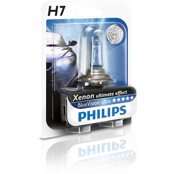 ampoule philips blue vision ultra h7 feu vert. Black Bedroom Furniture Sets. Home Design Ideas