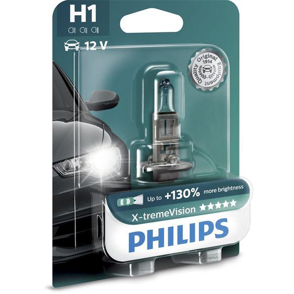 1 ampoule philips premium x treme vision h1 feu vert. Black Bedroom Furniture Sets. Home Design Ideas