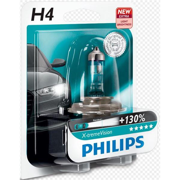 1 ampoule philips premium x treme vision h4 feu vert. Black Bedroom Furniture Sets. Home Design Ideas