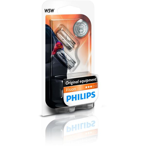 2 Ampoules Philips Vision Led 4000K W5W
