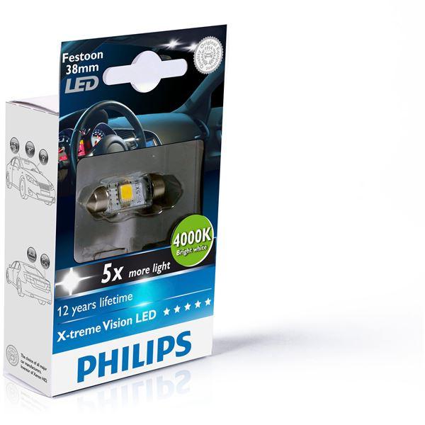 1 ampoule philips premium led 4000 k c5w feu vert. Black Bedroom Furniture Sets. Home Design Ideas