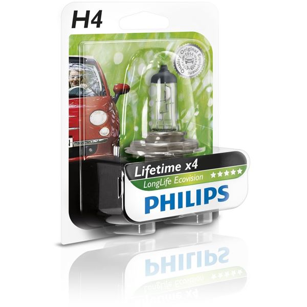 Ampoule Philips Long Life Eco Vision H4