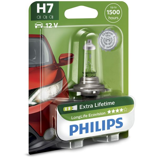 1 ampoule philips premium long life eco vision h7 feu vert. Black Bedroom Furniture Sets. Home Design Ideas