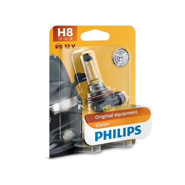 1 ampoule philips premium vision h8 feu vert. Black Bedroom Furniture Sets. Home Design Ideas