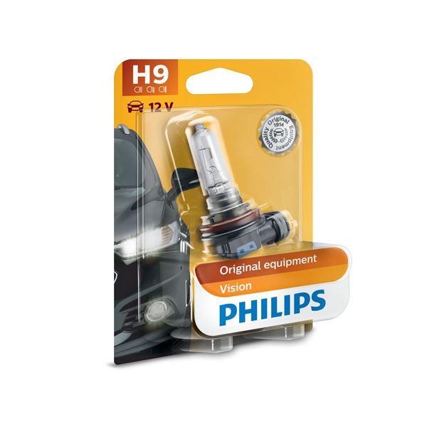 1 ampoule philips premium vision h9 feu vert. Black Bedroom Furniture Sets. Home Design Ideas