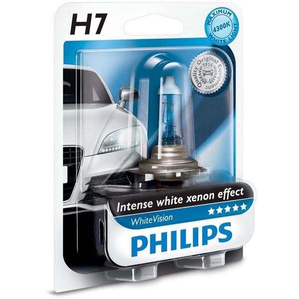 ampoule philips white vision h7 feu vert. Black Bedroom Furniture Sets. Home Design Ideas