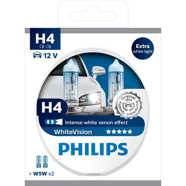 2 Ampoule Philips White Vision H4