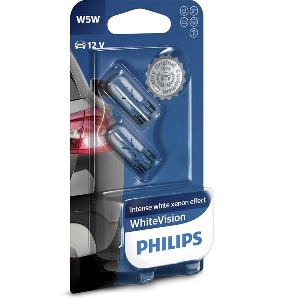 2 Ampoules Philips White Vision W5W