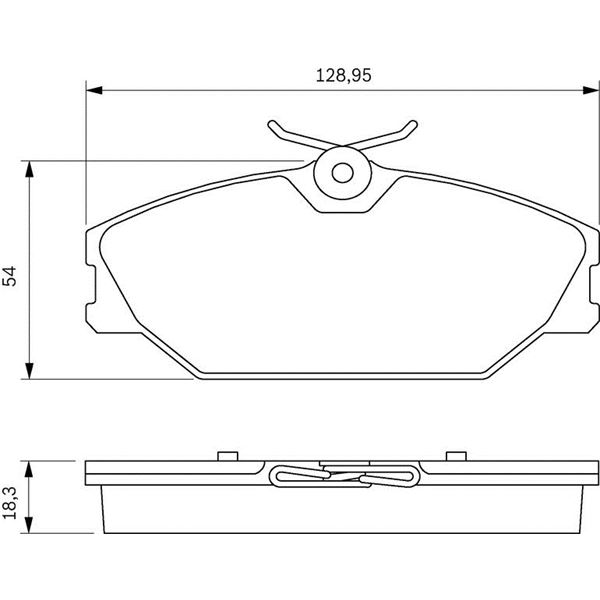 plaquette de frein bosch bosch jeu de plaquettes de frein bos0986424707 achat vente plaquettes. Black Bedroom Furniture Sets. Home Design Ideas