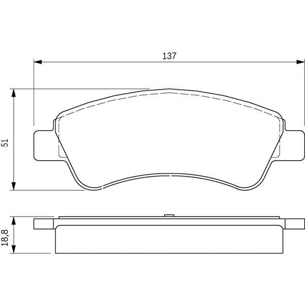 4 plaquettes de frein avant bosch bp318 feu vert. Black Bedroom Furniture Sets. Home Design Ideas
