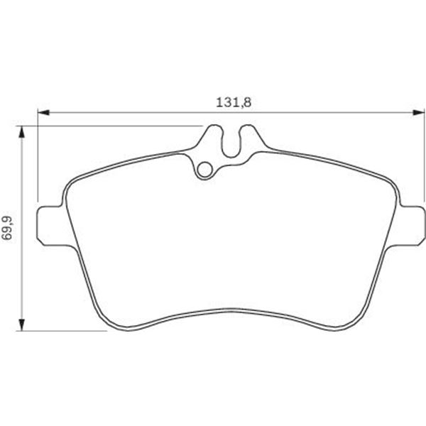 4 plaquettes de frein avant bosch bp995 feu vert. Black Bedroom Furniture Sets. Home Design Ideas