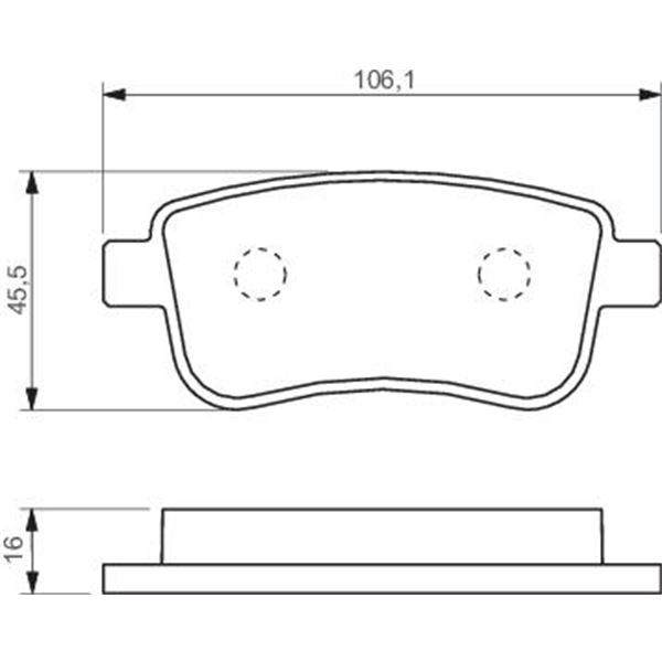 4 plaquettes de frein arri re bosch bp1375 feu vert. Black Bedroom Furniture Sets. Home Design Ideas