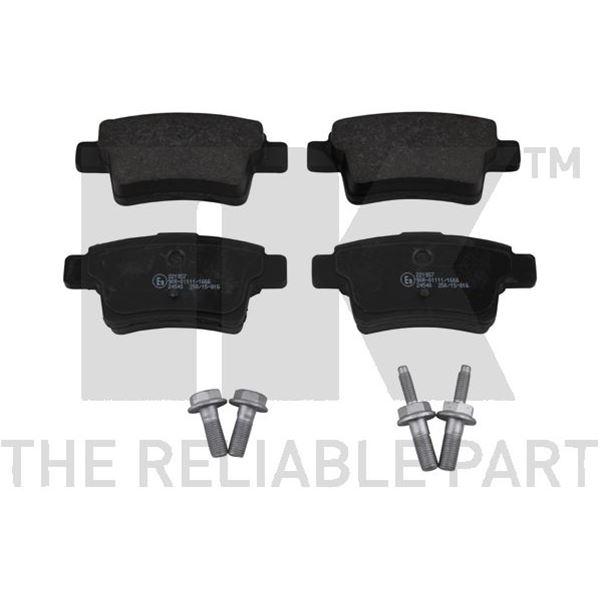 4 plaquettes de frein arri re nk 221957 feu vert. Black Bedroom Furniture Sets. Home Design Ideas