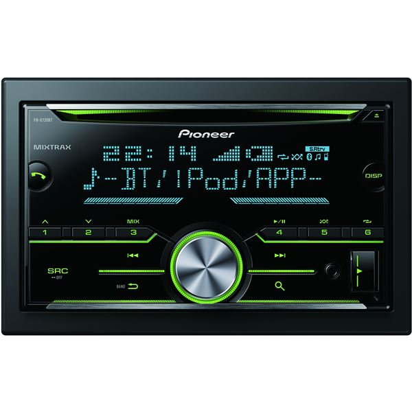 autoradio bluetooth pioneer fh x730bt feu vert. Black Bedroom Furniture Sets. Home Design Ideas