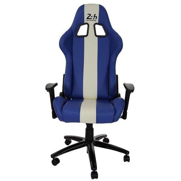 si ge baquet de bureau en cuir bleu 24h le mans feu vert. Black Bedroom Furniture Sets. Home Design Ideas