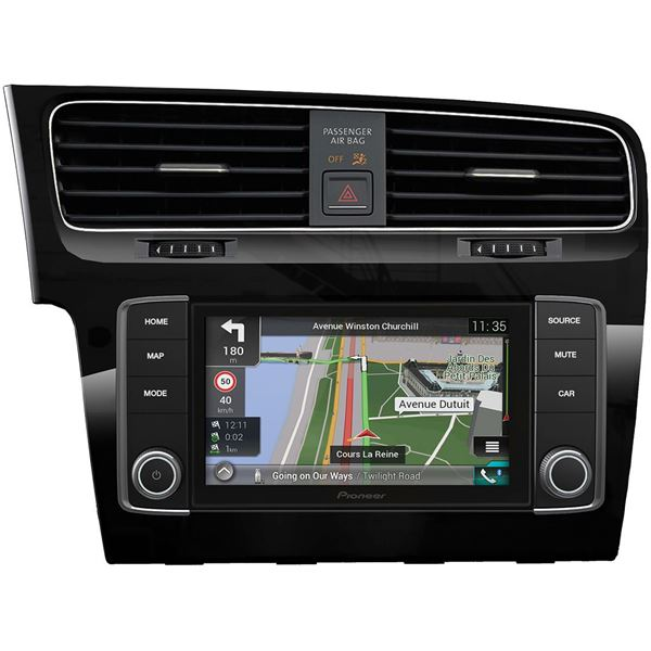 autoradio gps pioneer navgate evo golf 7 feu vert. Black Bedroom Furniture Sets. Home Design Ideas