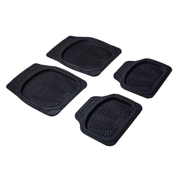4 tapis de voiture caoutchouc bac 3d michelin feu vert. Black Bedroom Furniture Sets. Home Design Ideas