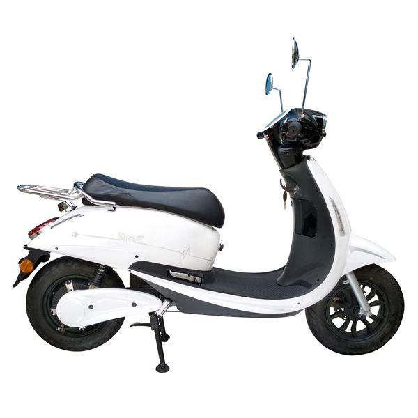 scooter lectrique slide eurocka blanc brillant feu vert. Black Bedroom Furniture Sets. Home Design Ideas