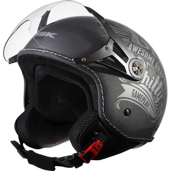 Casque Moto Jet Tattoo On Blanc Taille L KSK