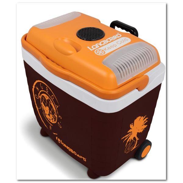 glaci re lectrique 12 230v longboard marron orange 28 litres feu vert. Black Bedroom Furniture Sets. Home Design Ideas