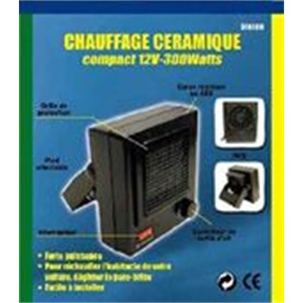 chauffage d 39 appoint 12 volts 300 watts feu vert. Black Bedroom Furniture Sets. Home Design Ideas