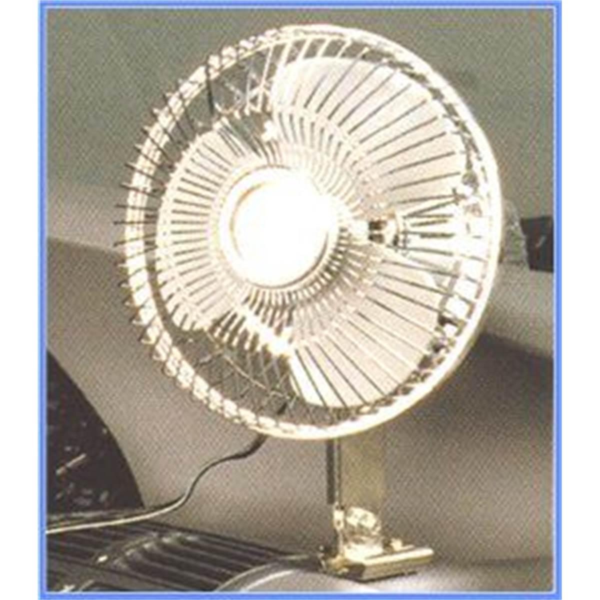 Ventilateur métallique oscillant 12V