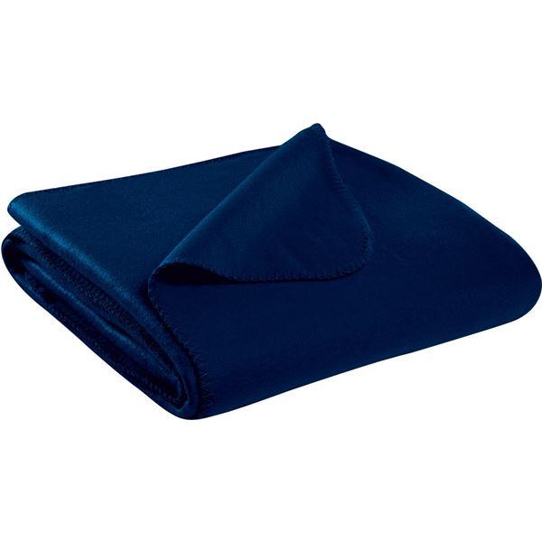 Plaid Polaire Bleu Marine