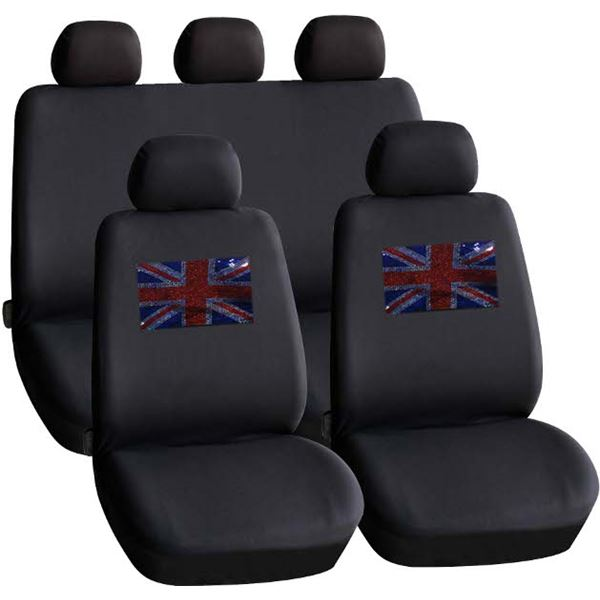 housses de si ge voiture motif drapeau union jack feu vert. Black Bedroom Furniture Sets. Home Design Ideas