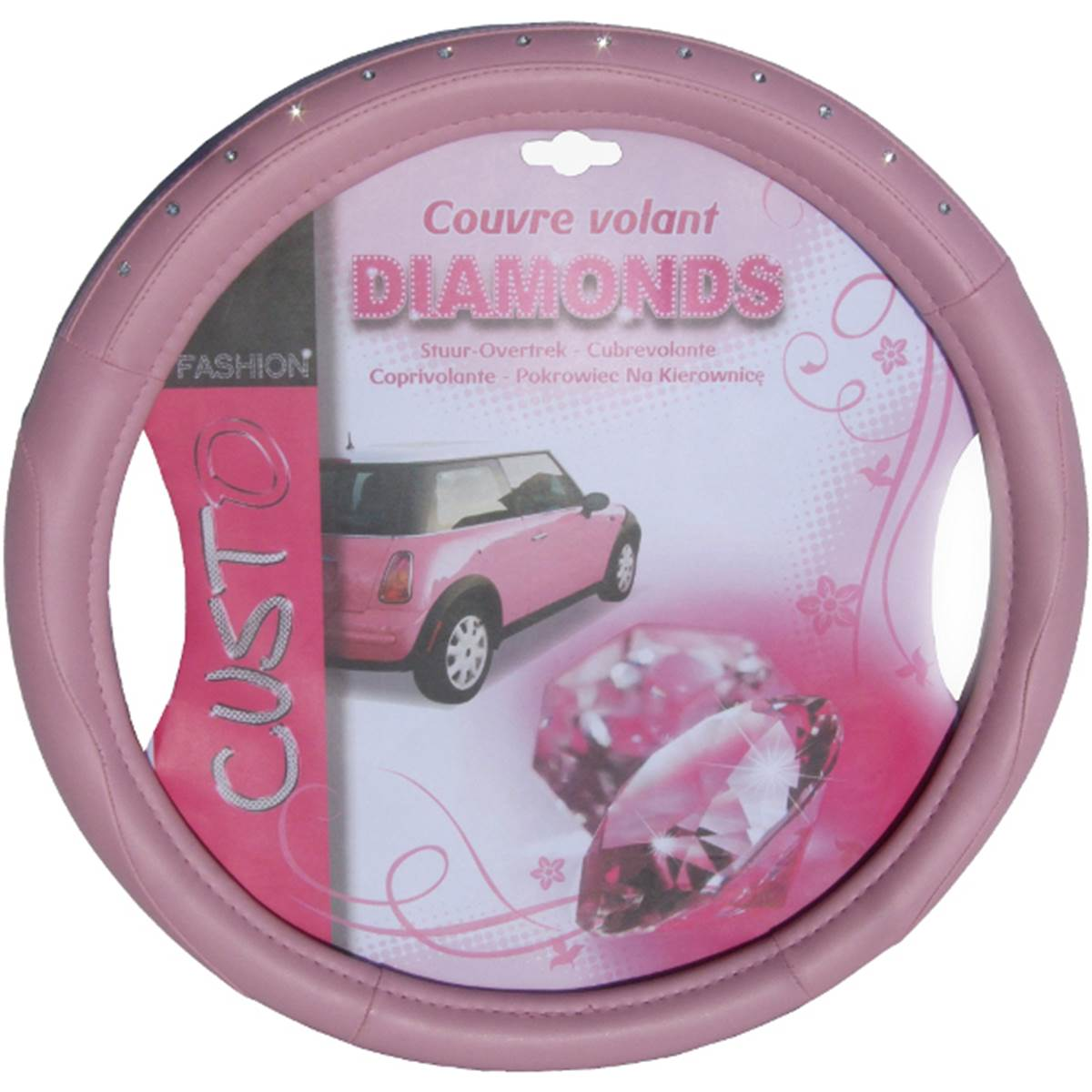 Couvre volant rose for Couvre volant fourrure