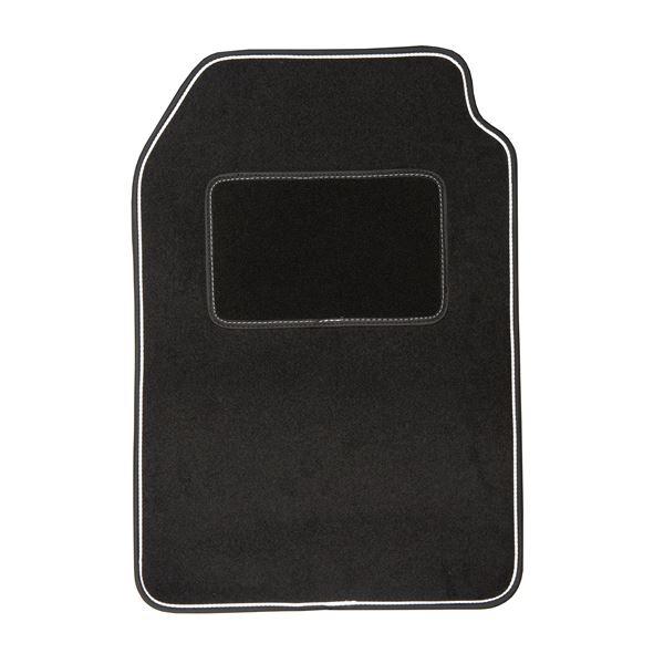4 tapis de voiture moquette universels rouge et noir dbs. Black Bedroom Furniture Sets. Home Design Ideas
