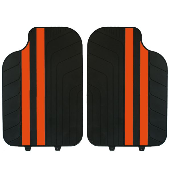 tapis voiture universel pvc bandes orange feu vert. Black Bedroom Furniture Sets. Home Design Ideas