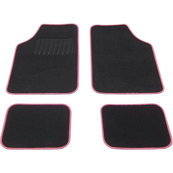tapis voiture universel moquette noir surjet rose feu vert. Black Bedroom Furniture Sets. Home Design Ideas