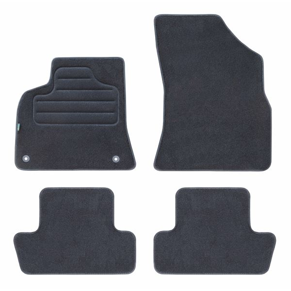 4 tapis de voiture moquette pour peugeot 3008 5008 feu. Black Bedroom Furniture Sets. Home Design Ideas
