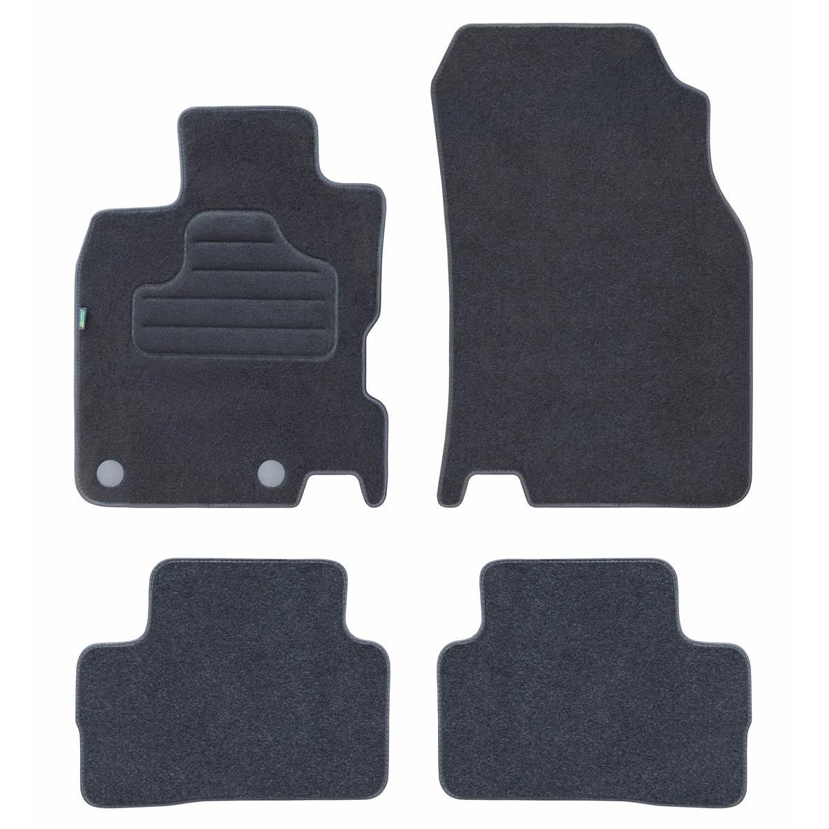 4 tapis de voiture moquette pour renault kadjar feu vert. Black Bedroom Furniture Sets. Home Design Ideas