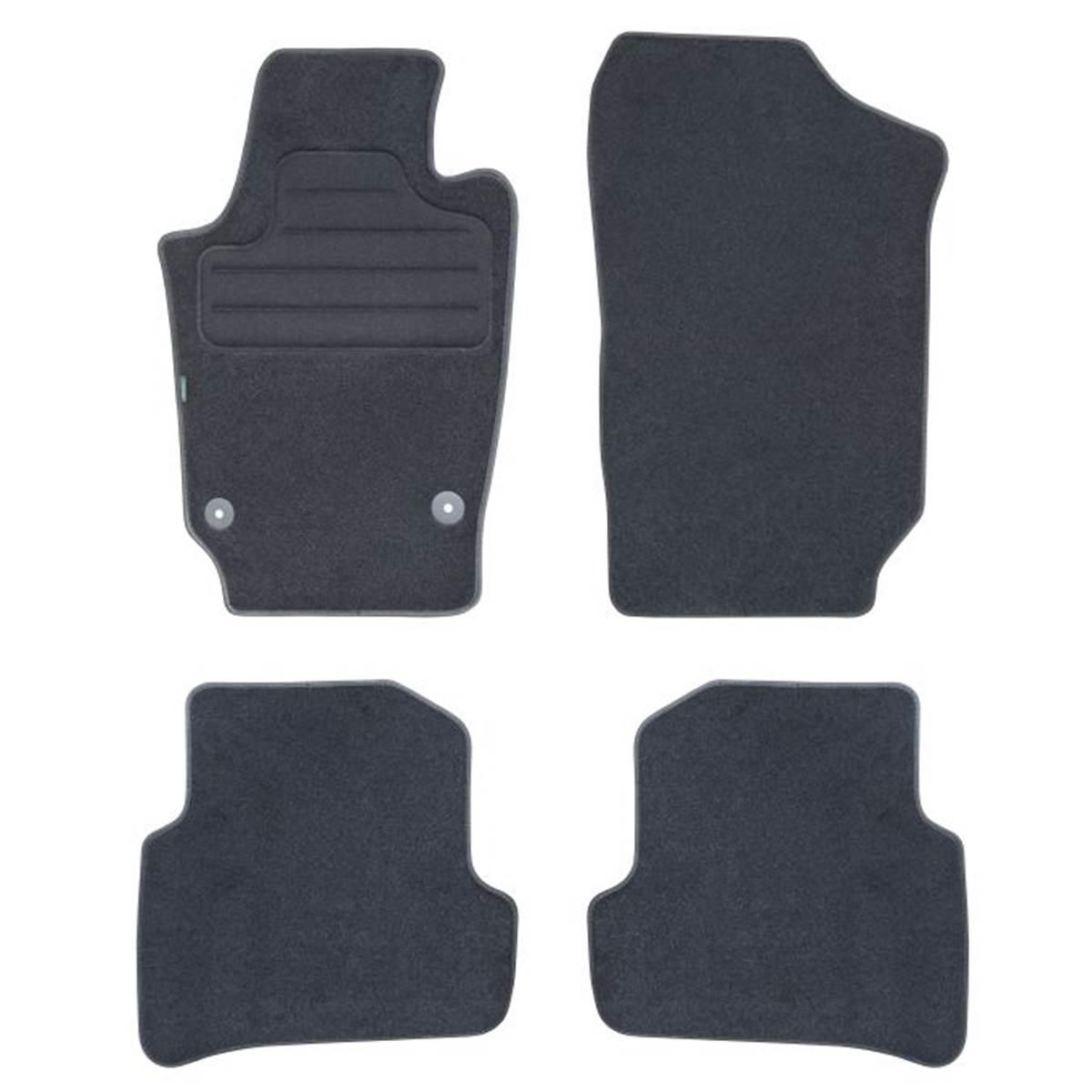 4 tapis de voiture moquette pour volkswagen polo version 5 feu vert. Black Bedroom Furniture Sets. Home Design Ideas