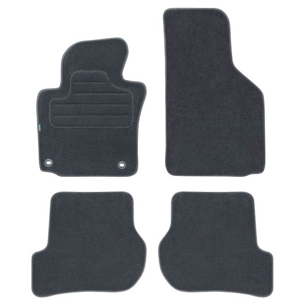 4 tapis de voiture moquette pour volkswagen golf version 5 et coup. Black Bedroom Furniture Sets. Home Design Ideas
