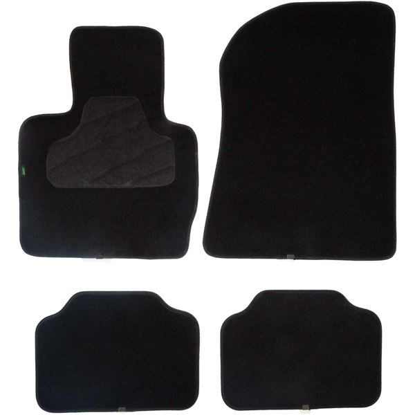 4 tapis de voiture adapt s constructeur pour v hicules bmw et mini cooper feu vert feu vert. Black Bedroom Furniture Sets. Home Design Ideas