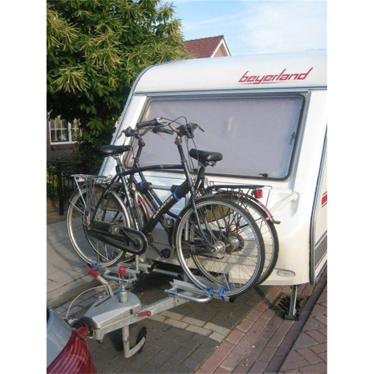 Portevélos Spécial Caravane KWARTS Feu Vert - Porte vélo caravane sur flèche