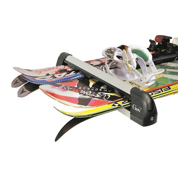 2 porte skis sur barres de toit xl feu vert. Black Bedroom Furniture Sets. Home Design Ideas