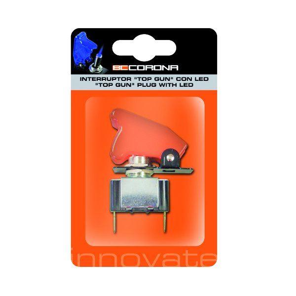 interrupteur rouge sans led type top gun feu vert. Black Bedroom Furniture Sets. Home Design Ideas