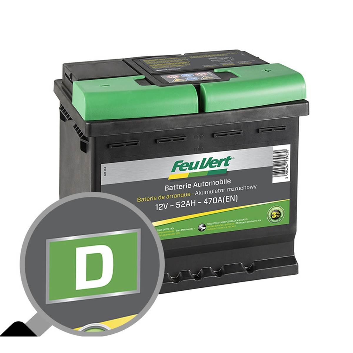 Batterie voiture Feu Vert D