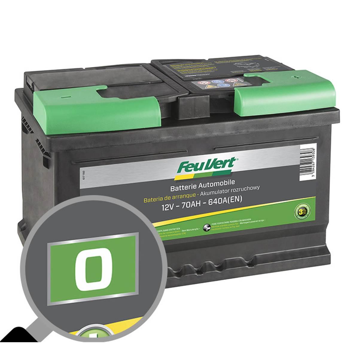 Batterie voiture Feu Vert O