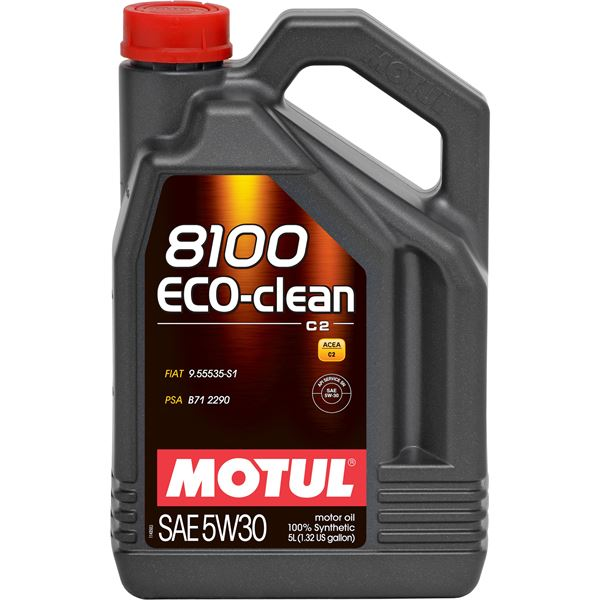 huile moteur 100 synth se motul 8100 eco clean c2 5w30. Black Bedroom Furniture Sets. Home Design Ideas