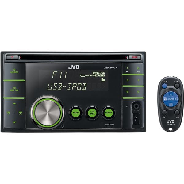 autoradio jvc kw xr611 feu vert. Black Bedroom Furniture Sets. Home Design Ideas