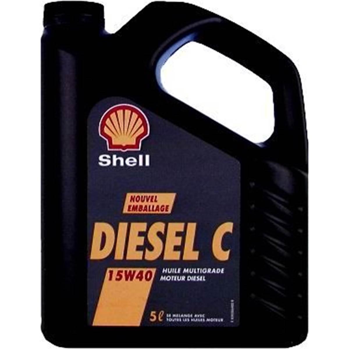 Huile minérale Shell Diesel 15W40 5L