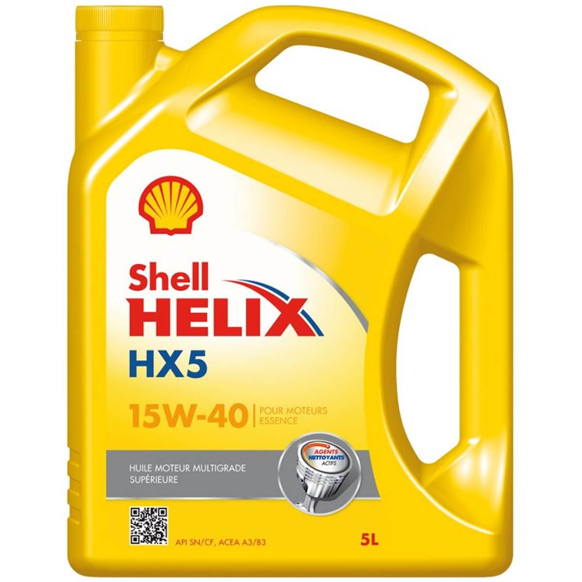 Huile moteur SHELL Helix Super Essence 15W40 5L