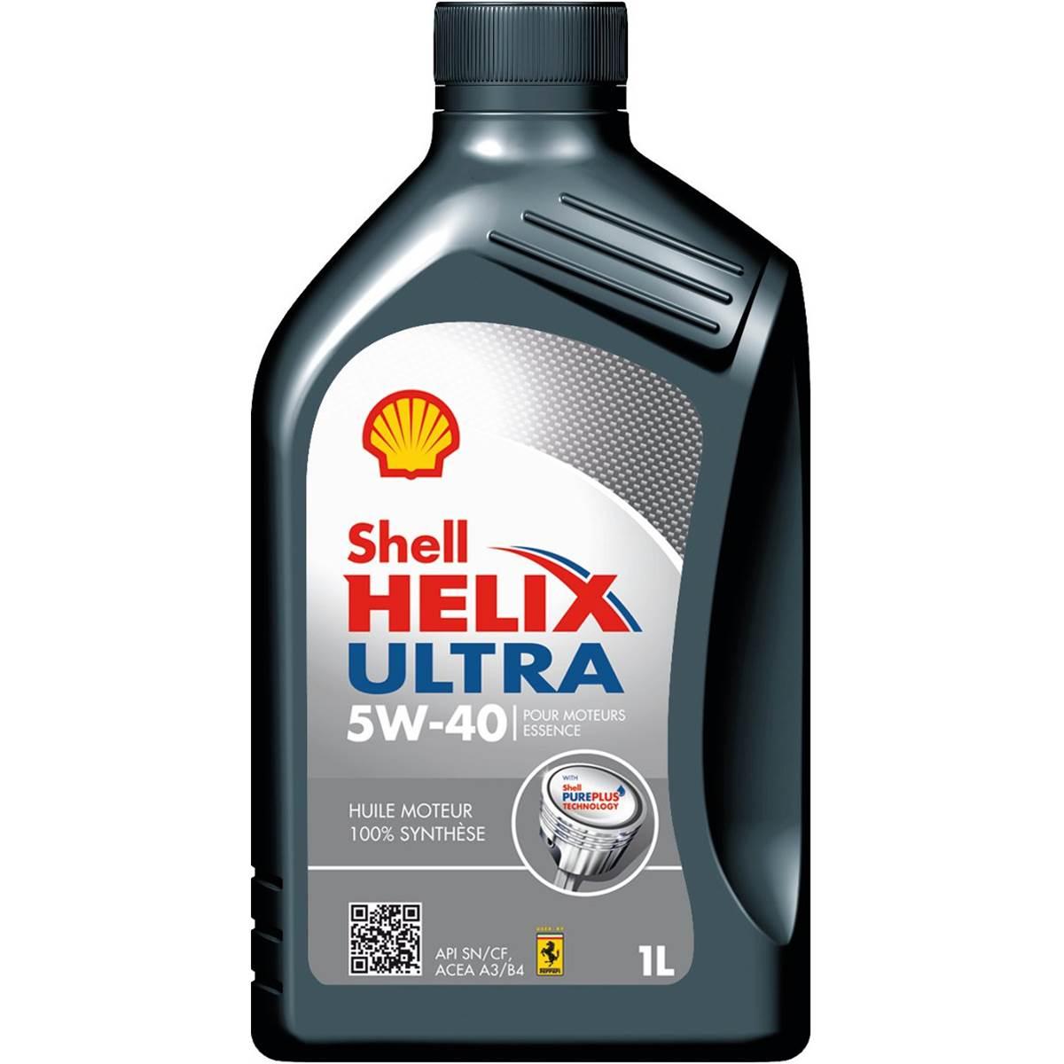 Huile moteur SHELL Helix Ultra Essence 5W40 1L