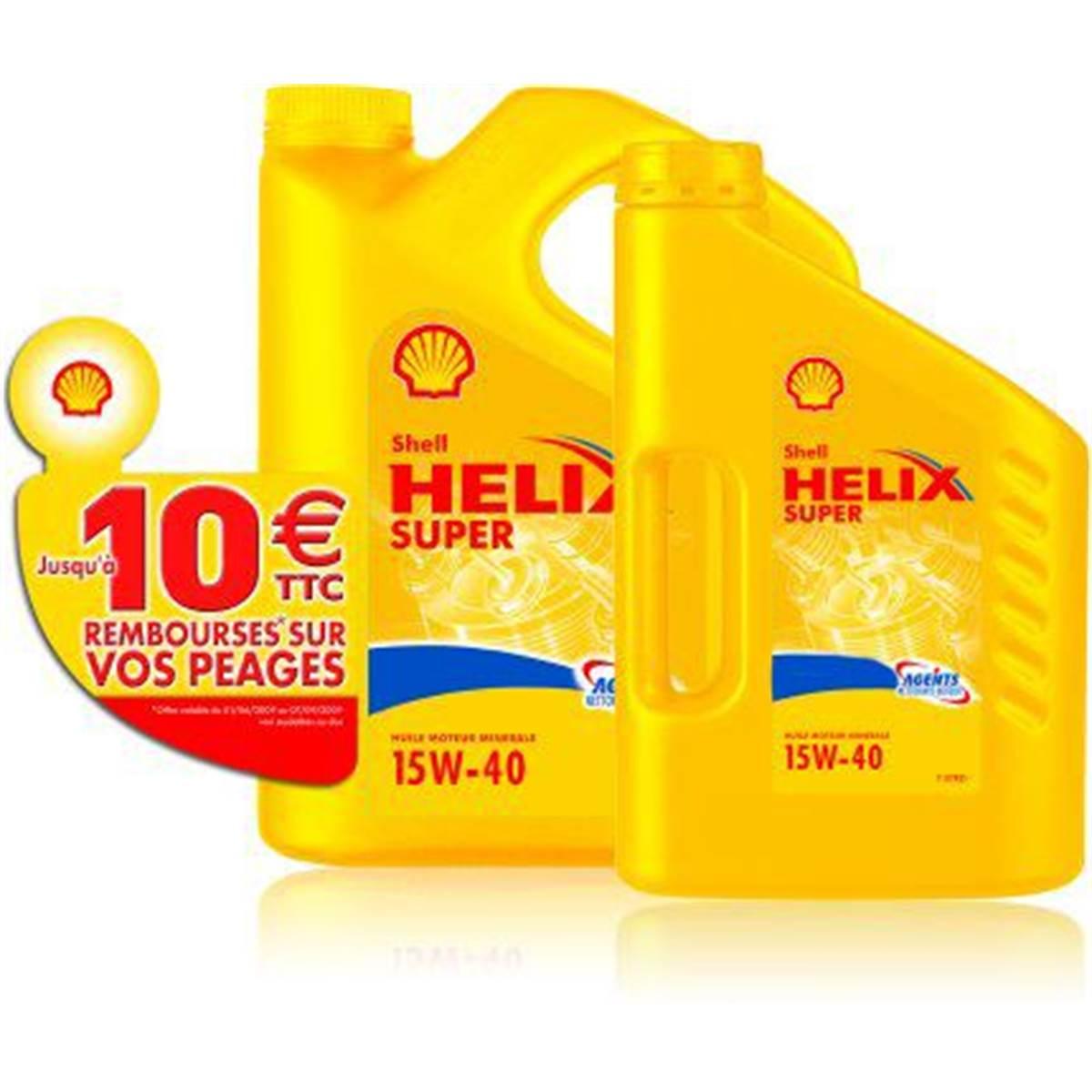 Huile Shell Helix Plus 15w40 E 5L+2L+10E péage