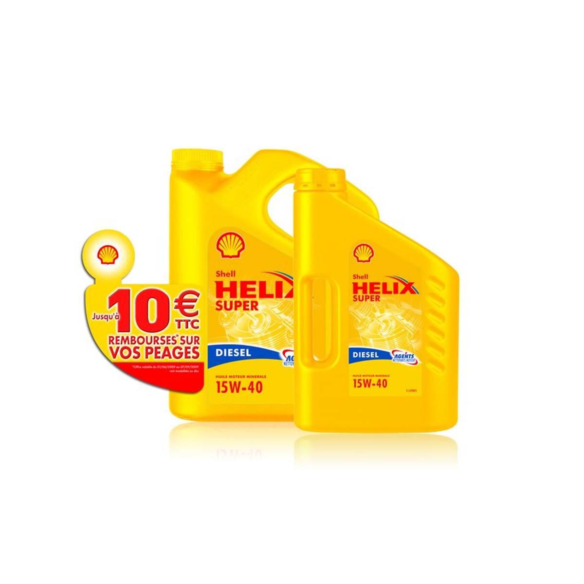 Huile Shell Helix Plus 15w40 D 5L+2L+10E péage